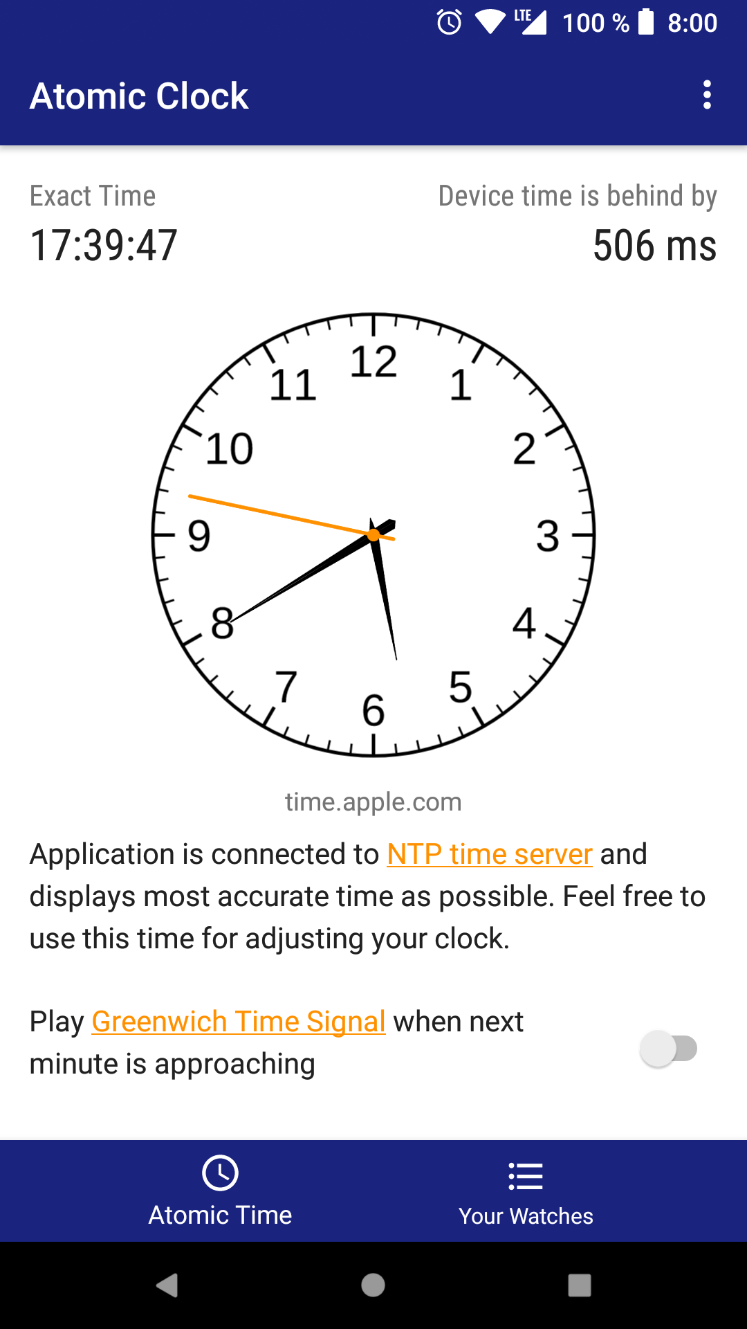Atomic Clock & Watch Accuracy Tool (with NTP Time